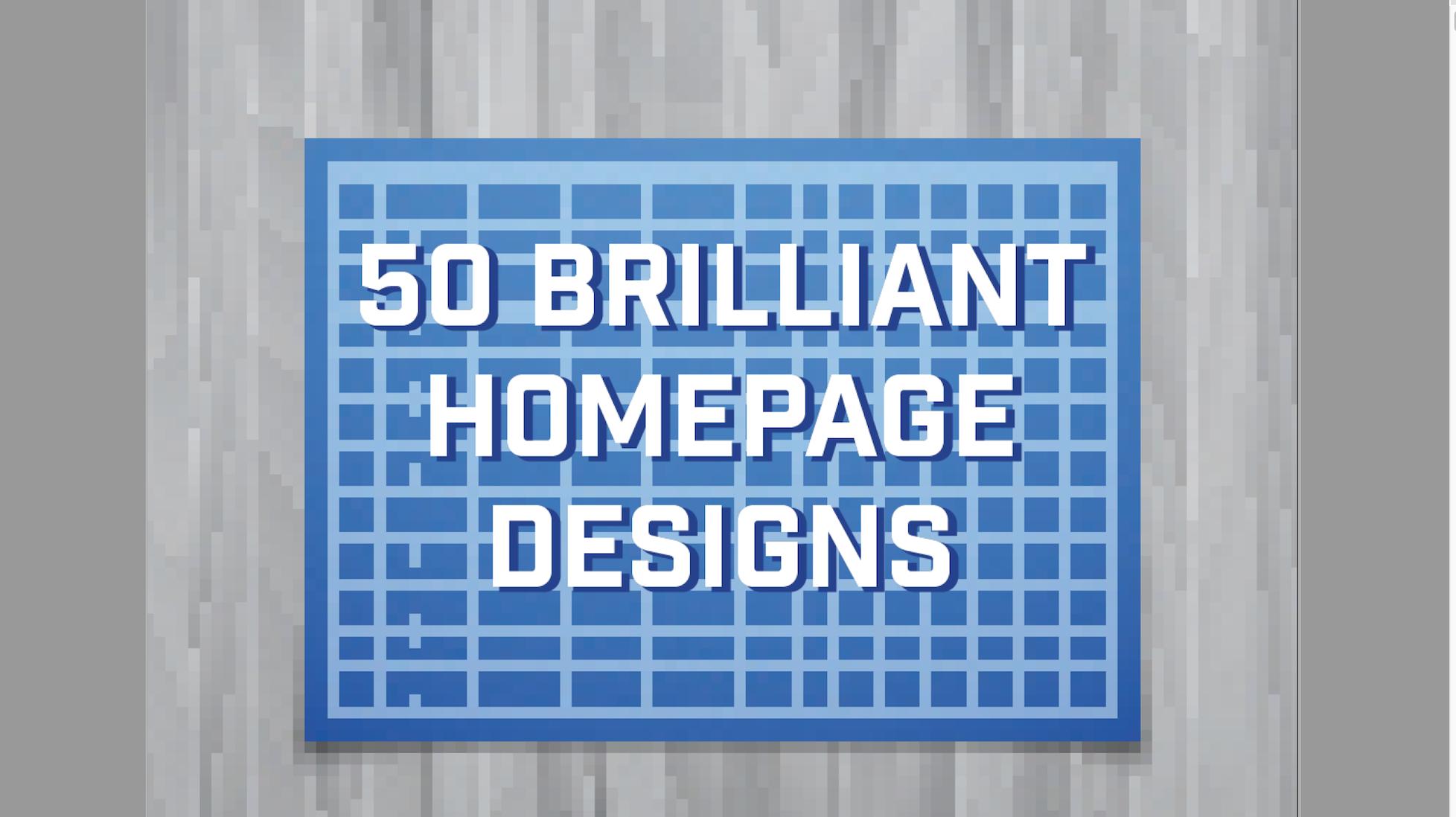 50 Brilliant Home Page Designs